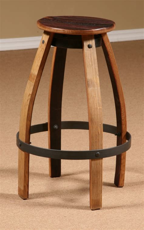 Wine Barrel Swivel Bar Stools by Wine Barrel Stave Furniture Wine Barrel Bar Stool Stave