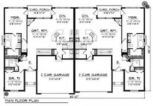 Floor Plans For Duplexes by Duplex Plan Chp 33733 At Coolhouseplans Com Retirement