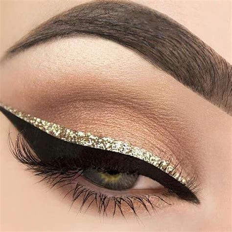 Eyeshadow Golden best 25 gold eyeliner ideas on glitter liner