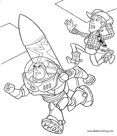 color buzz buzz lightyear coloring pages running free printable