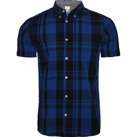 Sleeve Check Cotton Shirt mens next sleeve casual check print smart cotton