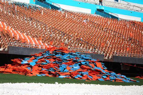 dolphin stadium seats miami dolphins to sell sun stadium seats on