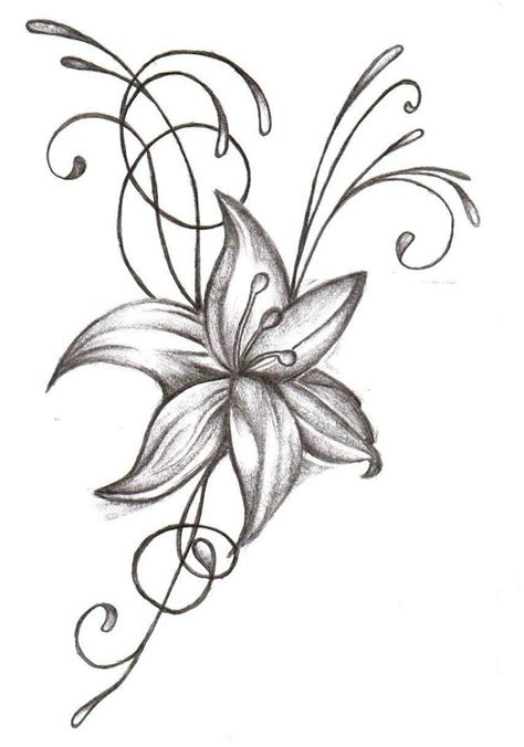 tattoo lily flower designs flower tattoos popular designs