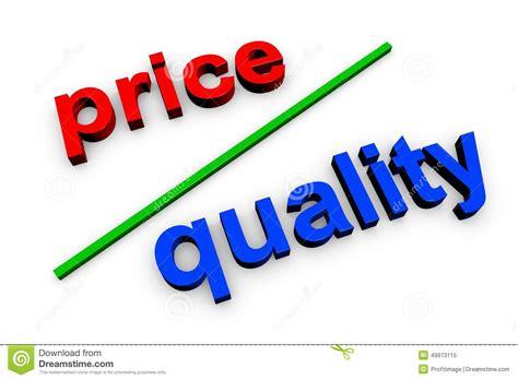 price of price quality stock illustration image of ratio decision