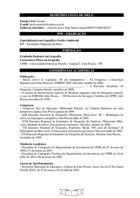 Modelo Curriculum Universitario Prof Demetrio Curriculo Academico