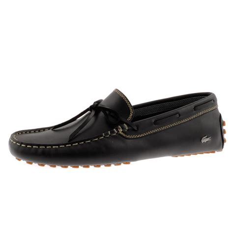 lacoste concours lace shoes in black for lyst