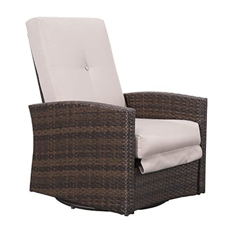 rocking recliner garden chair outsunny rattan wicker swivel rocking outdoor recliner
