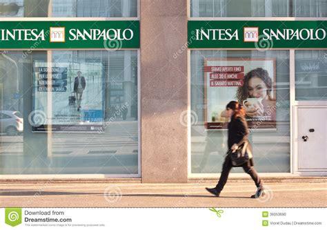 intesa on banking intesa sanpaolo editorial image image of credit
