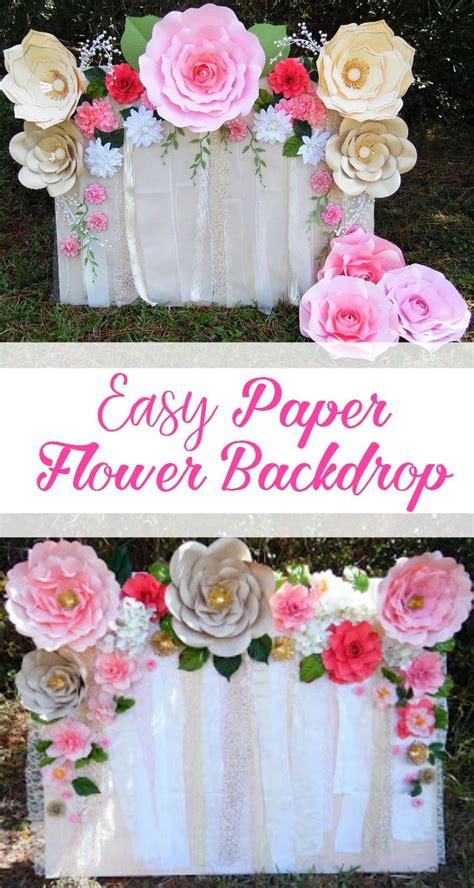 tutorial paper flower backdrop learn how to make this quick and easy paper flower