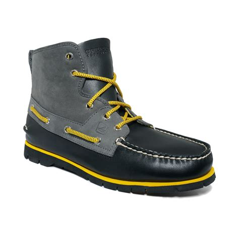 sperry top sider boots mens sperry top sider boat lite boots in gray for black