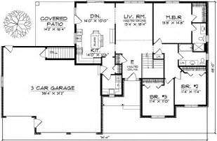 Ranch Style Homes Floor Plans by Traditional Ranch Style Home Plan 89130ah 1st Floor