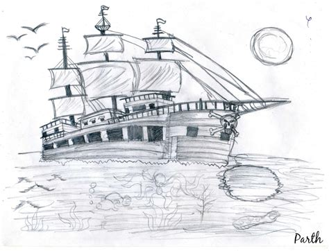 pirate ship a sketch for a how to pencil sketches just like that learning and creativity