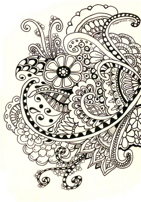 zentangle henna designs h basics practise on paper