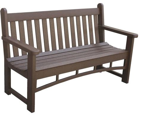 one person bench eagle one santa fe 3 person recycled plastic patio bench