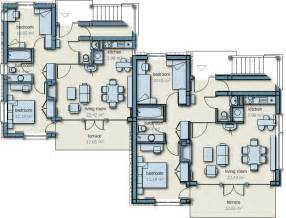 semi detached floor plans semi detached house plans semi detached home detached
