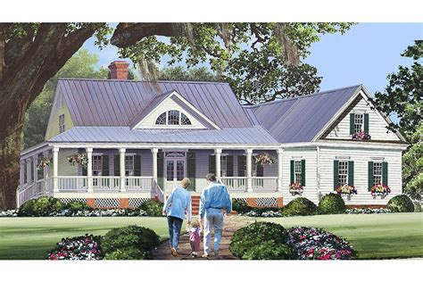 Low Country House Plans With Wrap Around Porch by Low Country With Extraordinary Wrap Around Porch