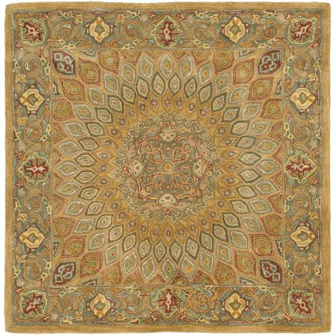 8 square area rug safavieh vintage 8 ft x 8 ft square area rug vtg117 440 8sq the home depot