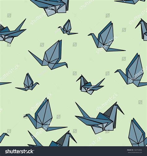 origami pattern vector origami crane vector seamless pattern 160754096