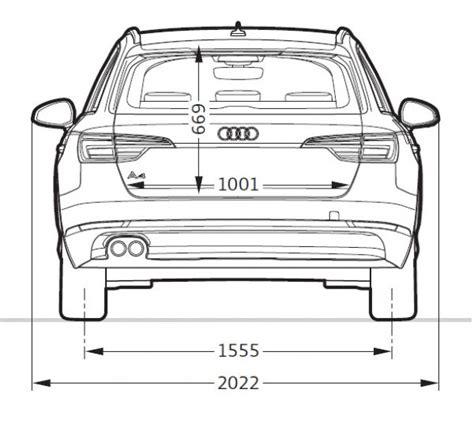 Audi A4 Avant Breite by Audi A4 Avant B9 Abmessungen Technische Daten