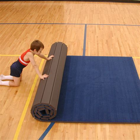 Workout Mats For Hardwood Floors by Flexi Roll Carpeted Mat 4 X 6