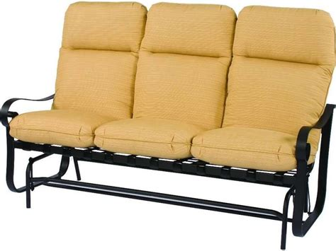 glider sofa suncoast orleans cushion cast aluminum glider sofa 8620