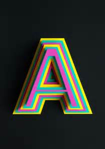 beautiful 3d typography of the letter a handcrafted with