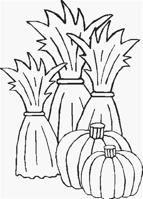 Corn Stalk Coloring Page Cliparts Co Corn Stalk Coloring Page