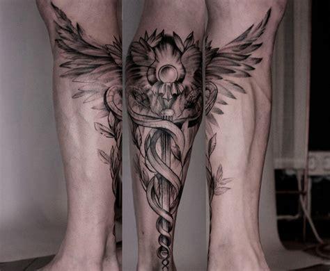 caduceus tattoo caduceus master olga тат