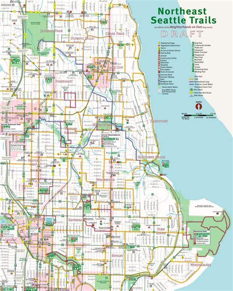 seattle map go draft northeast seattle trails project map feedback