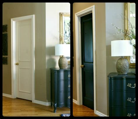 Painting Interior Doors Black Before And After Thinking Of Painting Your Interior Doors Black Our