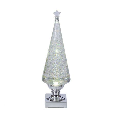 tabletop christmas tree with led lights clear and silver glittered battery operated led lava light tree tabletop decoration 14