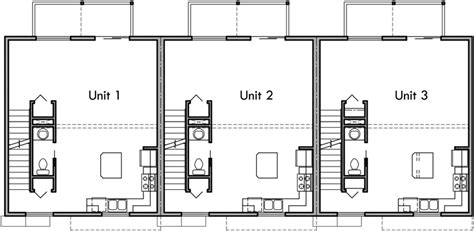 Small Row House Plans by Triplex Plans Small Lot House Plans Row House Plans T 413