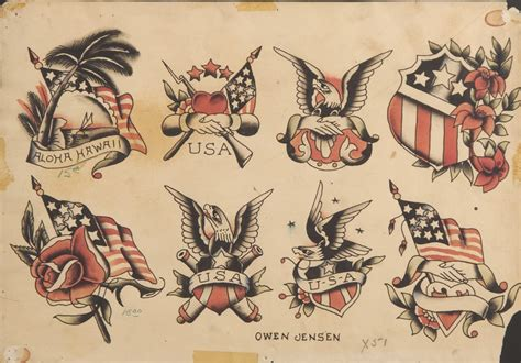 tattoo flash museum original flash by owen jensen yelp