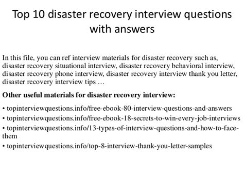 Disaster Recovery Plan Essay by Top 10 Disaster Recovery Questions With Answers