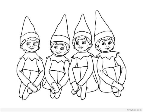 coloring page of on 20 on the shelf coloring pages for timykids