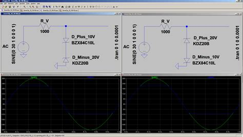 zener diodes ltspice voltage clipping with two series opposing zener diodes electrical engineering stack exchange