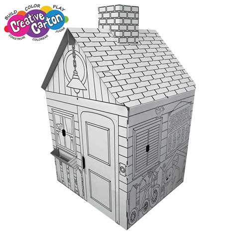 cardboard playhouse to color color create cardboard playhouse produits