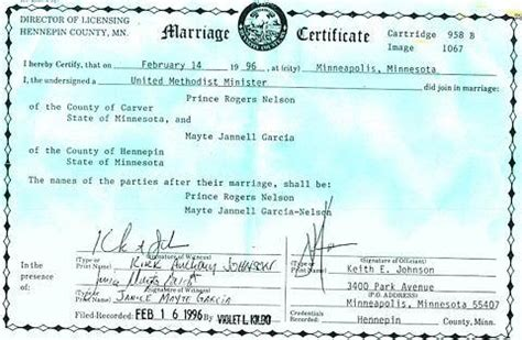 Prince Divorce Records Were Prince And Mayte Legally Married Lipstick Alley