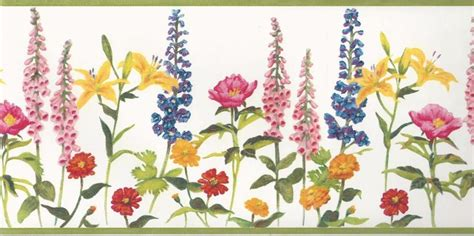 blue yellow wallpaper border wallpaper border wildflowers red yellow pink blue purple
