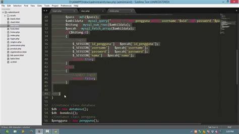 tutorial membuat web dengan php mysql 4 melakukan logout tutorial step by step membuat web