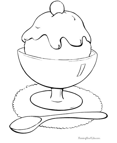 coloring pages with ice cream ice cream cone coloring page coloring home