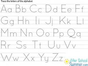 Alphabet Letter Tracing Templates by Free Printable Alphabet Tracing Letters Tracing Clip