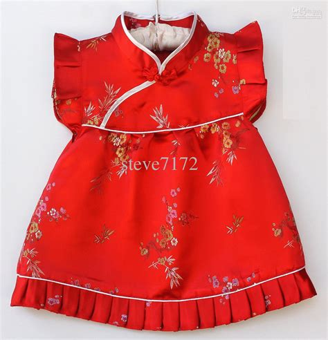 Mix Set Top Dress S M L 23722 2018 baby qipao sets suits new year