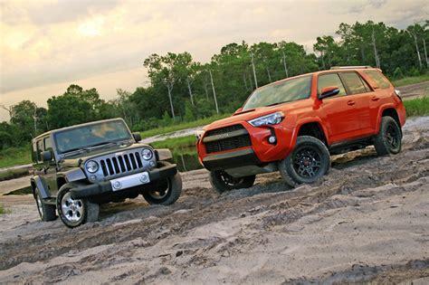 4runner Vs Jeep Jeep Wrangler Vs 4runner Trd Autos Post