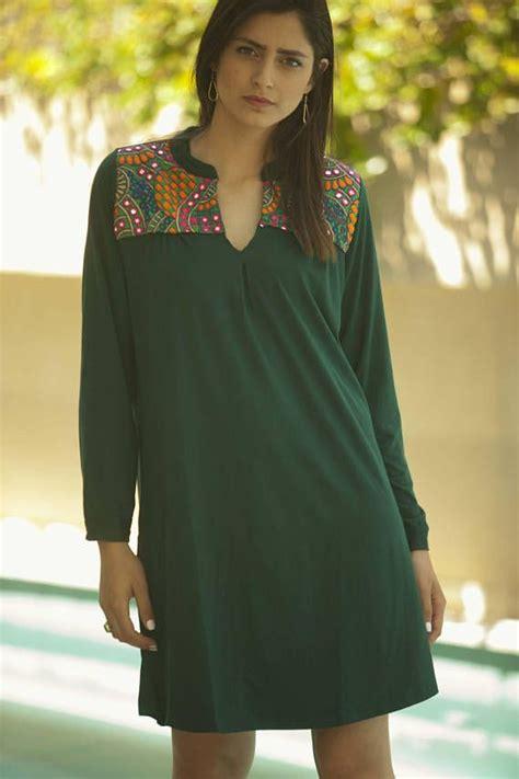 Green Ethnic Dress green sleeves ethnic dress tribal embroidery dress