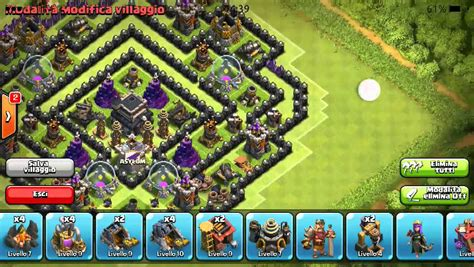 coc layout th9 anti gowipe clash of clans best th9 anti gowipe dragon balloon youtube