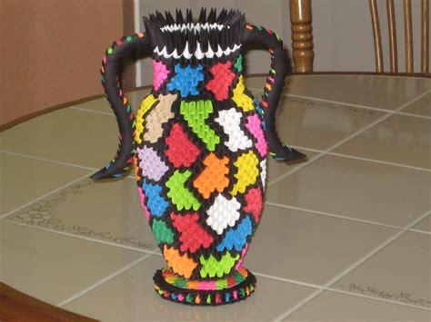 How To Make A 3d Origami Vase - vase 3d origami by esmeraldaarribas on deviantart