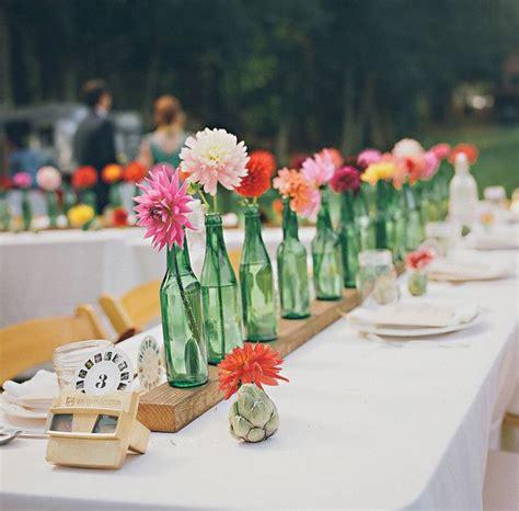 Single Flower Vase Centerpiece by Green Bottle Single Flower Centerpiece Happinessisblog