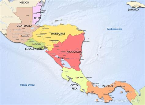 america map political central america political map