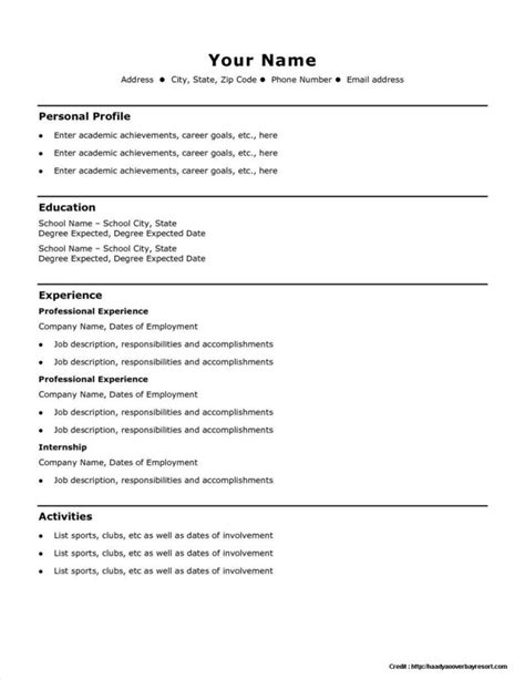 free simple resume builder resume template free resume resume exles